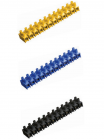 Изображение цветных винтовых зажимов ЗВИ-100 нг производства компании ИЭК из полистирола