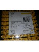 Фотография жёлтого винтового зажима ЗВИ-30 нг производства компании ИЭК из полистирола