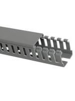 Изображение перфорированного кабель-канала 25х25 мм серии Импакт компании ИЭК для монтажа проводников в распределительных щитах