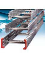 Изображение кабельного лестничного лотка 300х100 из оцинкованной стали