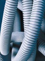 Изображение лёгкой гибкой гофрированной трубы из самозатухающего ПВХ диаметром 40 мм с протяжкой ДКС