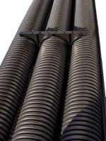 Изображение гибкой гофрированной трубы с двумя стенками из полиэтилена диаметром 40 мм изготовления ДКС