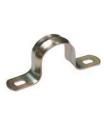 Изображение двухлапковой скобы диаметром 10 мм производства ИЭК для крепления металлического рукава и трубы