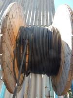 Фотография заводского барабана с контрольным пятижильным гибким кабелем КГВВ 5х2,5 для одиночной стационарной прокладки