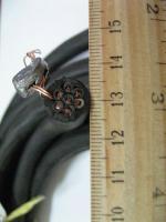 Фотография сечения гибкого кабеля КГНВ-М 7х1,5 для подвижного присоединения в ПВХ изоляции и оболочке