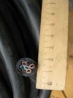 Фотография сечения гибкого кабеля КГНВ-М 7х2,5 для подвижного присоединения в ПВХ изоляции и оболочке
