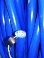 Фотография сечения силового гибкого кабеля КГНВ 2х4 для подвижных подключений
