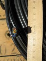 Фотография сечения плоского медного кабеля ВВГ-П 3х6 для электрической стационарной проводки