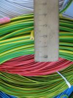 Фотография силового гибкого одножильного медного провода ПВ3нг-LS 2.5 в негорючей малодымной ПВХ изоляции разного цвета