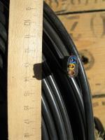 Фотография сечения силового малодымного негорючего кабеля ВВГнг-LS-П 3х2,5 для стационарной прокладки