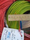 Фотография силового гибкого одножильного медного провода ПВ3нг-LS 0.75 в негорючей малодымной ПВХ изоляции разного цвета