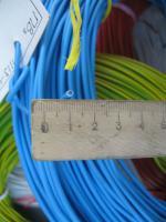 Фотография силового гибкого одножильного медного провода ПВ3нг-LS 1.5 в негорючей малодымной ПВХ изоляции разного цвета