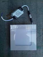 Фотография квадратного светодиодного (LED) светильника на 6 Вт для встраивания в потолок