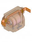Изображение измерительного проходного трансформатора ТПЛ 10 20/5 0,5 10Р (две вторичные обмотки для учёта и защиты)