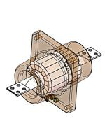 Изображение схемы измерительного трансформатора тока ТПОЛ-10 100/5 с двумя вторичными обмотками классов точности 0,5 и 10Р (под счётчик и реле)