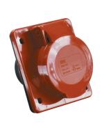Фотография кабельной силовой встроенной розетки ССИ-414 с четырьмя контактами (3P+PE) на номинальный ток 16 ампер