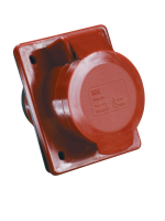Фотография кабельной силовой встроенной розетки ССИ-424 с четырьмя контактами (3P+PE) на номинальный ток 32 ампера