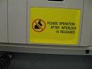 Предупреждающая надпись на передней панели выключателя SecoVac