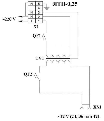 электрическая схема ящика