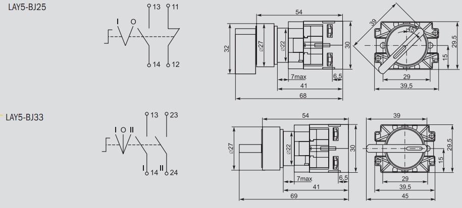 Размеры и электрическая схема