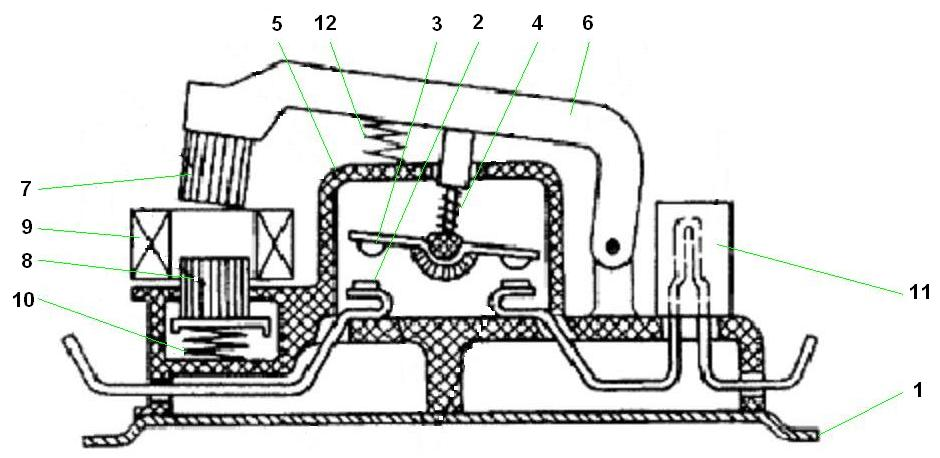 Рисунок с устройством пускателя серии ПАЕ, например ПАЕ 311 складского хранения